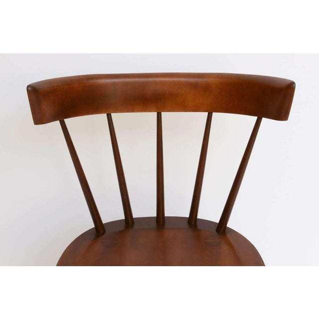 Single Paul McCobb Spindle Back Chair in Dark Maple - Image 7 of 9