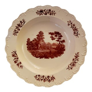 18th Century English Thatched Cottage Creamware Plate For Sale