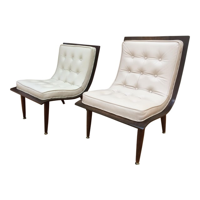 Mid-Century Carter Scoop Chairs - Pair For Sale