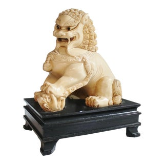 Mid-Century Chinese Guardian Foo Lion Sculpture For Sale