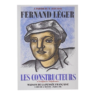 Vintage Mid Century Color Lithograph-Fernand Leger-Printed By Mourlot For Sale