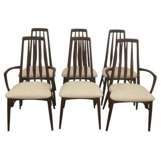 Koefods Hornslett Eva Rosewood Dining Chairs - Set of 6 For Sale