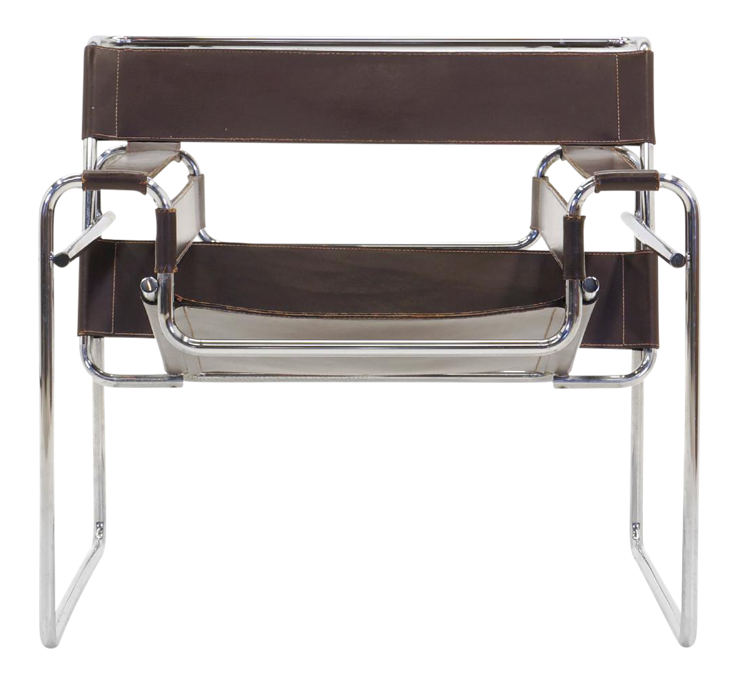 Early Original Knoll Gavina Wassily Chair By Marcel Breuer In Brown Leather    Image 1 Of
