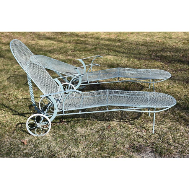 Russell Woodard Sculptura Patio Chaise Lounges - A Pair - Image 4 of 11