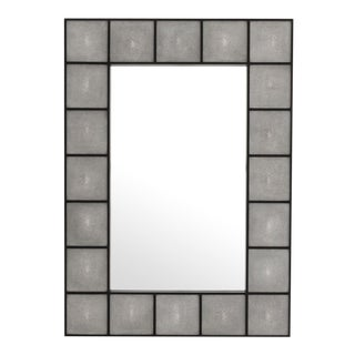 Contemporary Shagreen Wall Mirror For Sale