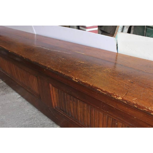 Early 20th Century Early 20th C. Antique Store Wood Counter For Sale - Image 5 of 6