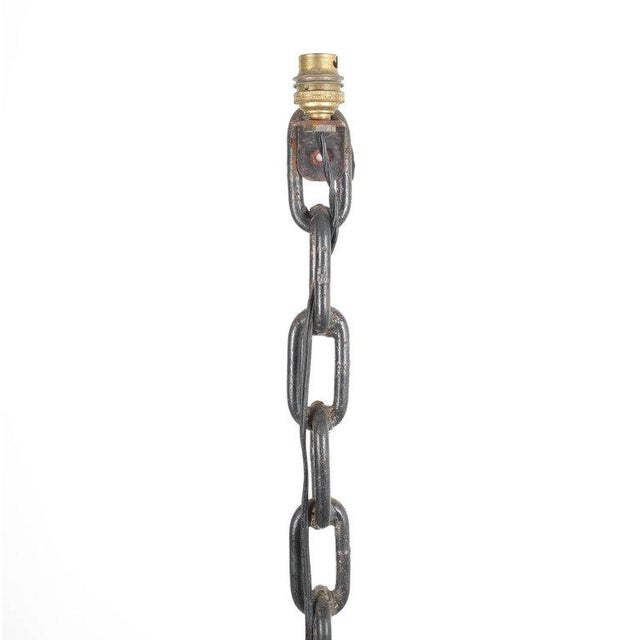 Franz West Nautical Floor Lamp Iron Chain Links, France, 1970 Style Franz West For Sale - Image 4 of 5