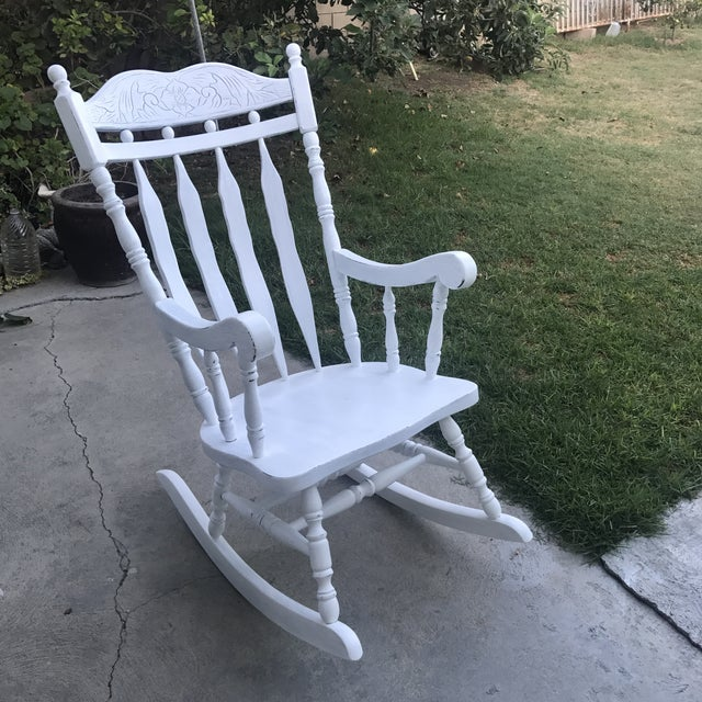 Shabby Chic Rocking Chair - Image 2 of 4