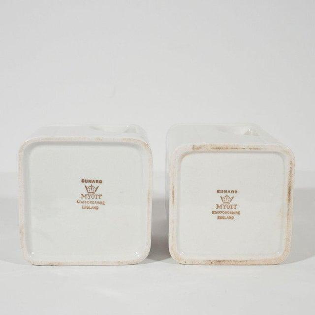 Ceramic Art Deco Streamline Porcelain Coffee & Tea Pots for the Cunard Cruise Ship Line For Sale - Image 7 of 8