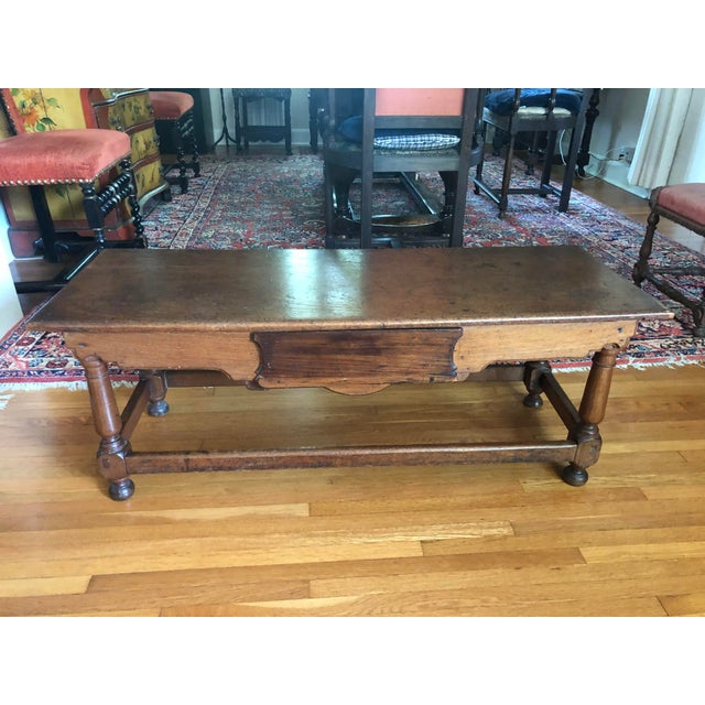 Antique French Henry II Style Walnut Low Boy Coffee Table For Sale - Image 13 of 13