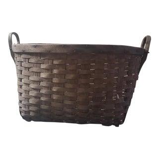 Early American Splint Basket For Sale