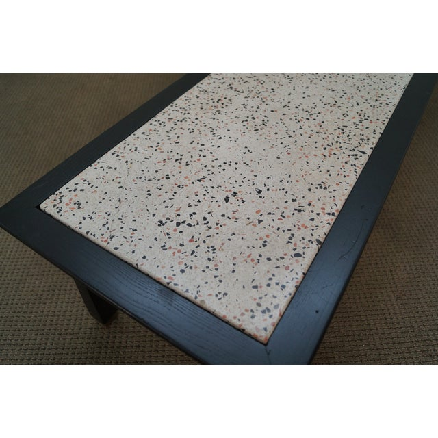 James Mont Mid Century Ebonized Marble Top Table - Image 6 of 10