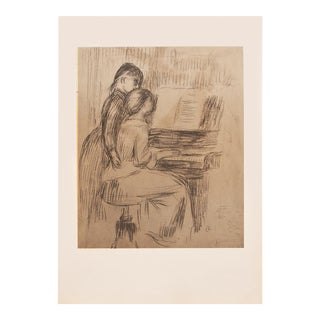 "1959 Auguste Renoir ""The Music Lesson"", Hungarian Photogravure For Sale"