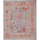 Image of Contemporary Turkish Oushak Rug With Modern Colors - 8′ × 9′7″ For Sale