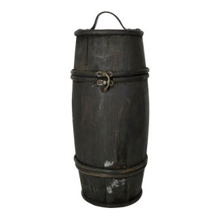 Tall Rustic Wood Barrel For Sale