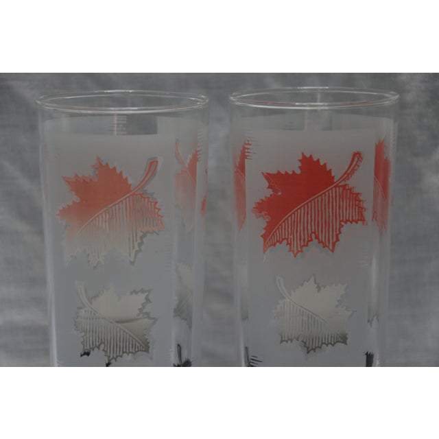 1960s Libbey Mid-Century Modern Leaf Water Glasses - Set of 7 For Sale - Image 5 of 5
