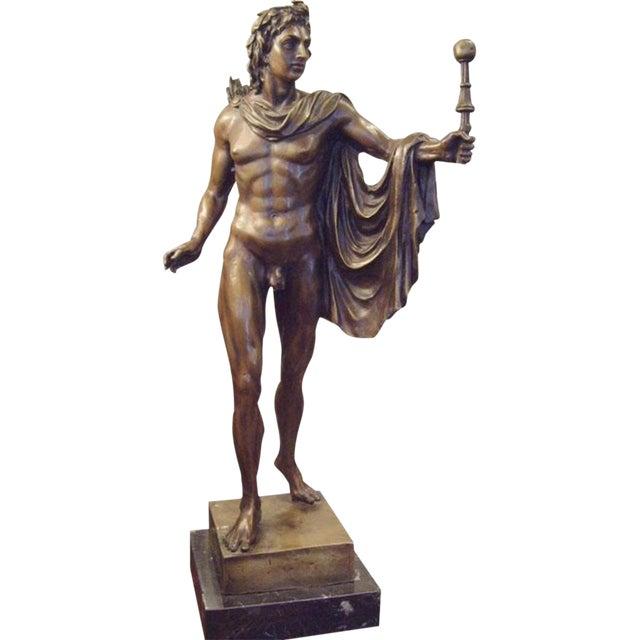 19th Century Italian Male Nude Bronze Statue For Sale