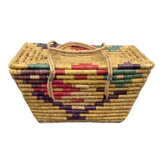 Vintage Handwoven African Coil Basket, 1970s For Sale