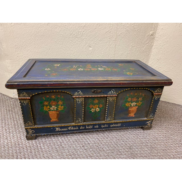 20th Century French Provincial Painted Pine Truck For Sale - Image 13 of 13