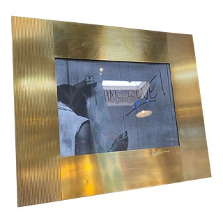 1970s Gabriella Crespi Brass Picture Frame For Sale