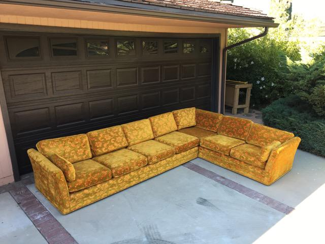 Mid Century Floral Sectional Sofa   Image 2 Of 3