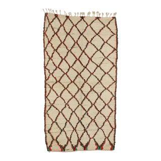 Vintage Berber Moroccan Azilal Rug For Sale