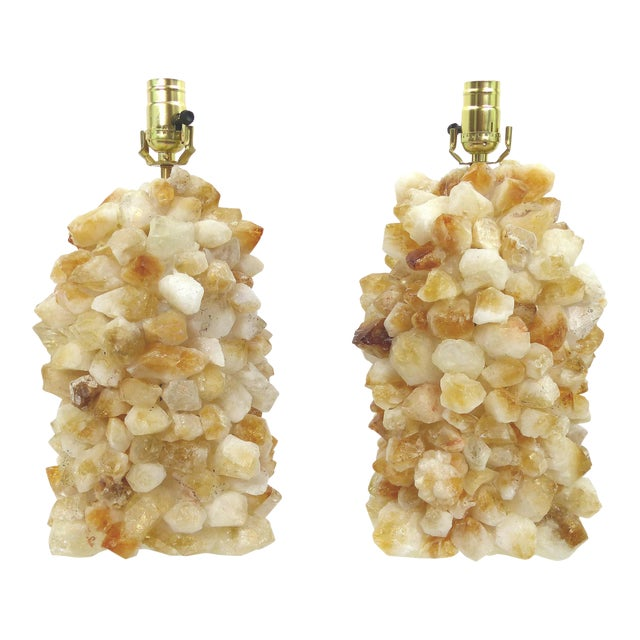 Quartz Rock Crystal Lamps - A Pair - Image 1 of 10