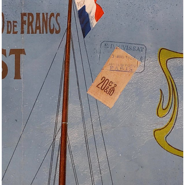 French Abel Brun -Messageries Maritimes-Original 1907 Steam Boat French Poster For Sale - Image 3 of 10