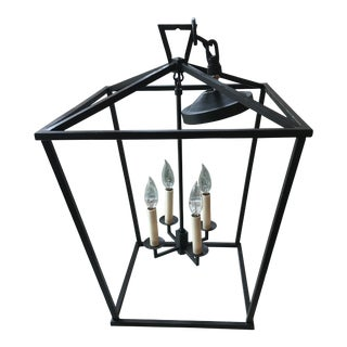 19th Century Style Restoration Hardware English Outdoor Pendant For Sale