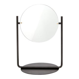 Steven Bukowski Contemporary Harp Vanity in Blackened Steel For Sale