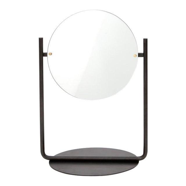 Steven Bukowski Contemporary Harp Vanity in Blackened Steel For Sale