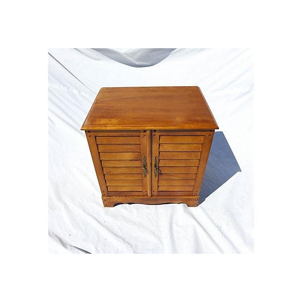 Mid-Century Modern Vintage Maple File Cabinet For Sale - Image 3 of 8