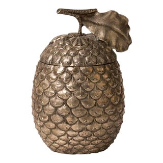 "Stamped Italian Metal ""Pineapple"" Ice Bucket"