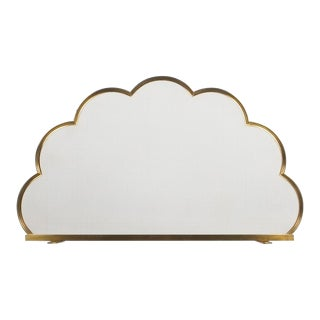 Brass Fire Screen Cloud Shaped, France, 1960 For Sale