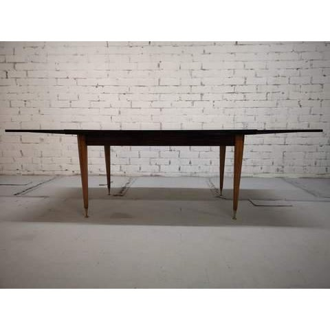 Mid-Century Modern Danish Draw Leaf Expanding Dining Table For Sale - Image 4 of 13