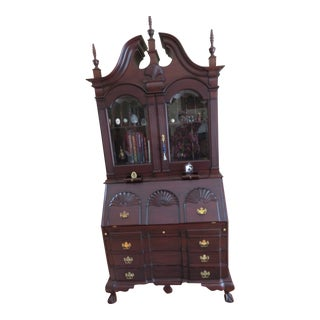Indonesian Mahogany Secretary Highboy For Sale