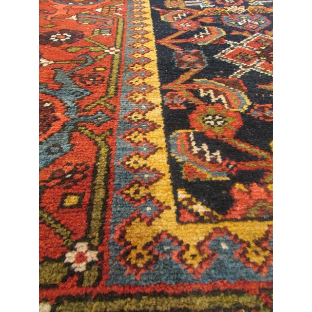 Brown Antique Persian Kurdish Runner - 3′8″ × 16′5″ For Sale - Image 8 of 9