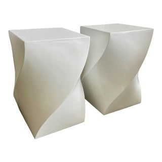 Swirl Pedestal From 1980s - a Pair For Sale