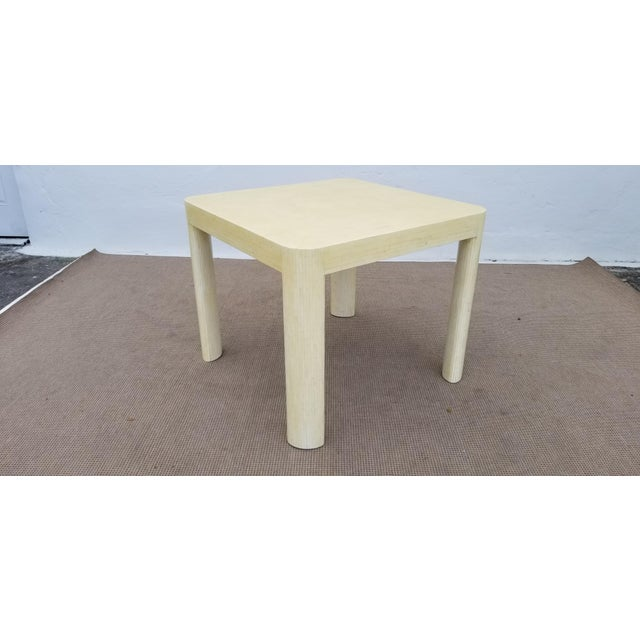 Mid-century modern Enrique Garcel tessellated bone game table. In good vintage condition. It has a stain on one side, also...