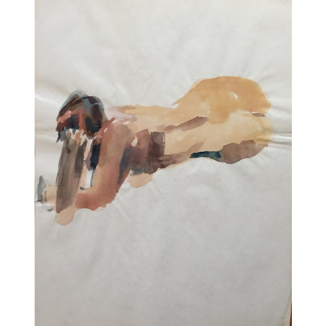1970's Expressionist Watercolor, Female Nude Study - Image 1 of 4