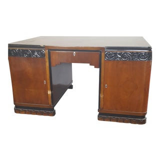 1930s Art Deco Partner Desk For Sale