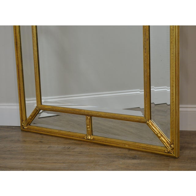 """Friedman Brothers Gold Gilt Frame Louis XVI Style """"The Dorset-Cromwell"""" Mirror For Sale - Image 10 of 12"""