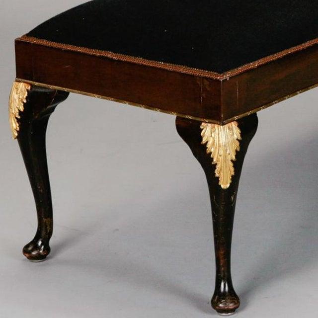 English Mahogany Bench with Ormolu Mounts - Image 2 of 5
