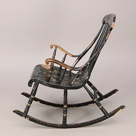 Swedish Antique Rocking Chair For Sale - Image 4 of 5