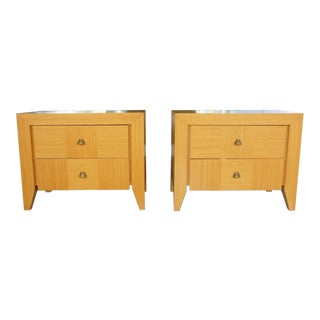 Dakota Jackson for Lane Contemporary Nightstands - a Pair For Sale