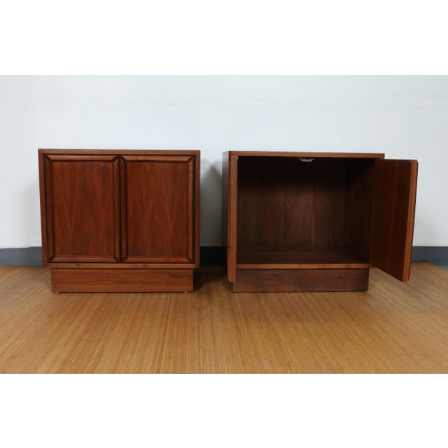 Brown and Saltman pair of nightstands for John Keal. Have been refinished and left in excellent condition. No damages or...