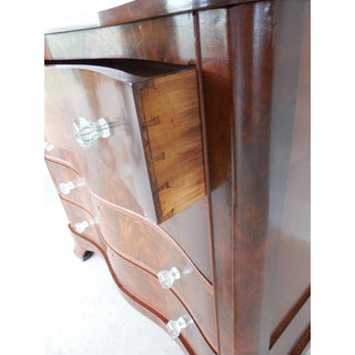 Antique Serpentined Front Mahogany 4 Drawer Chest Preview