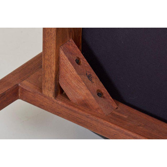Jens Risom Armchair in Walnut and Leather by Jens Risom Inc. For Sale - Image 9 of 11