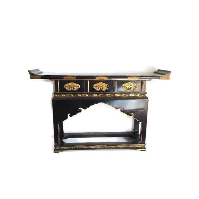 1930's Chinese Temple Table Chinoiserie Console - Image 4 of 10