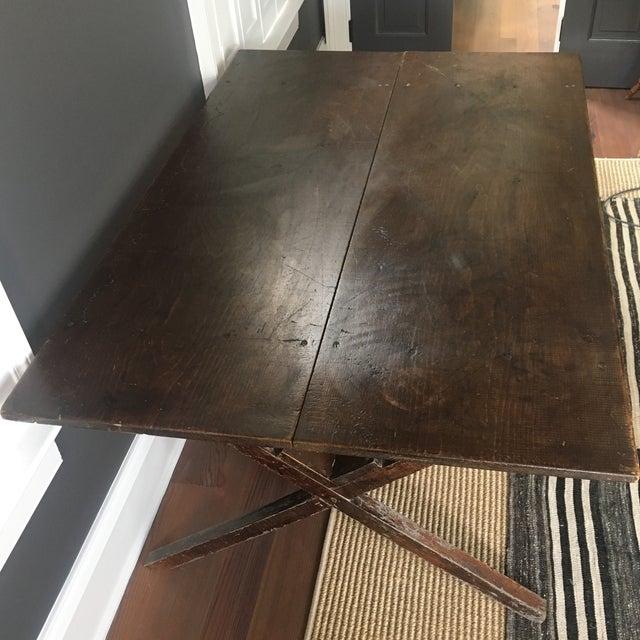 Vintage Trestle Table For Sale - Image 11 of 11